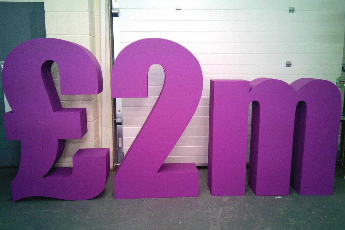 £2m polystyrene numbers