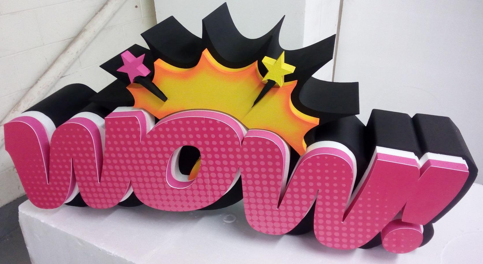 3D Polystyrene Letter Advertising