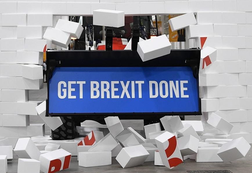 Boris johnson polystyrene wall