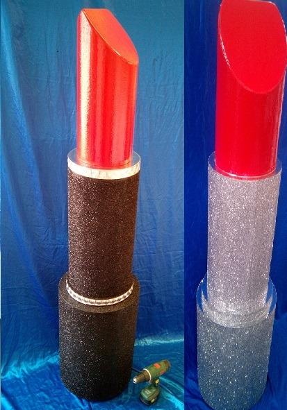 Huge Glitter Lipstick props