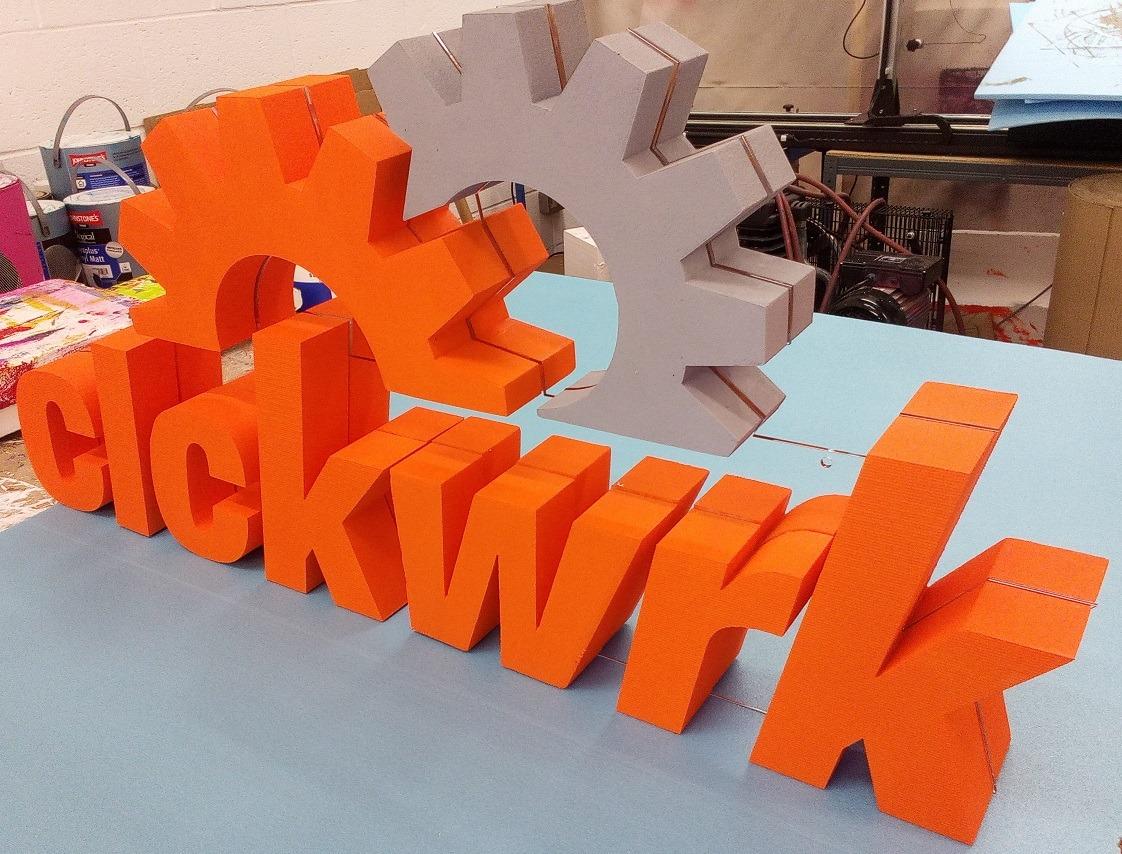 Styrofoam Acrylic 3D Logo