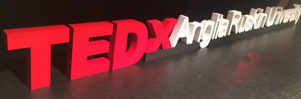 TEDx polystyrene letters with base