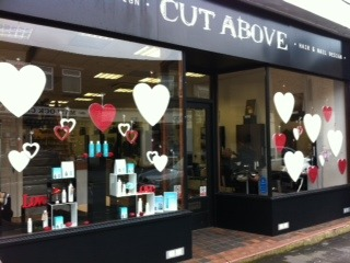 Valentine heart window displays