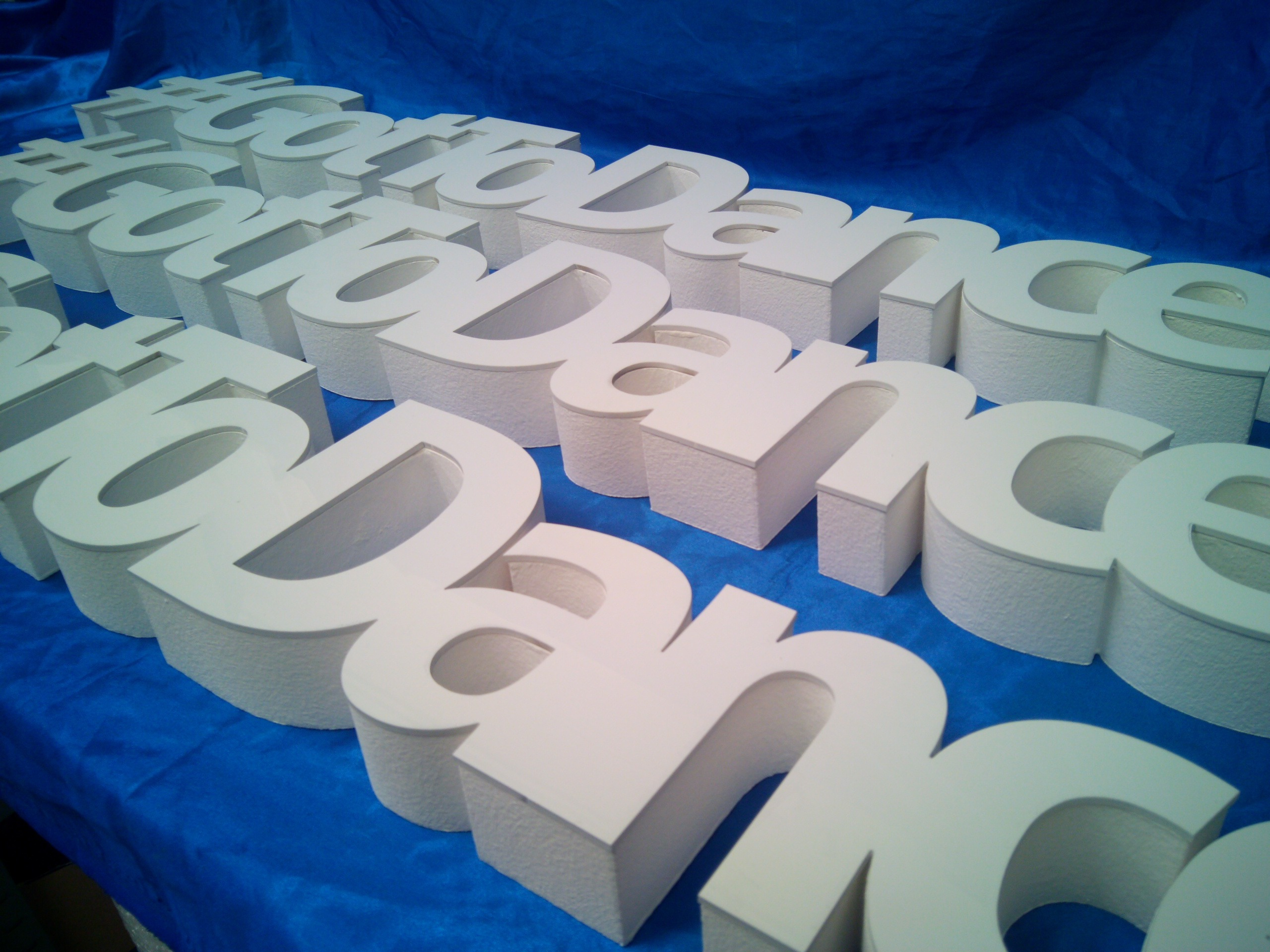 acrylic faced letters