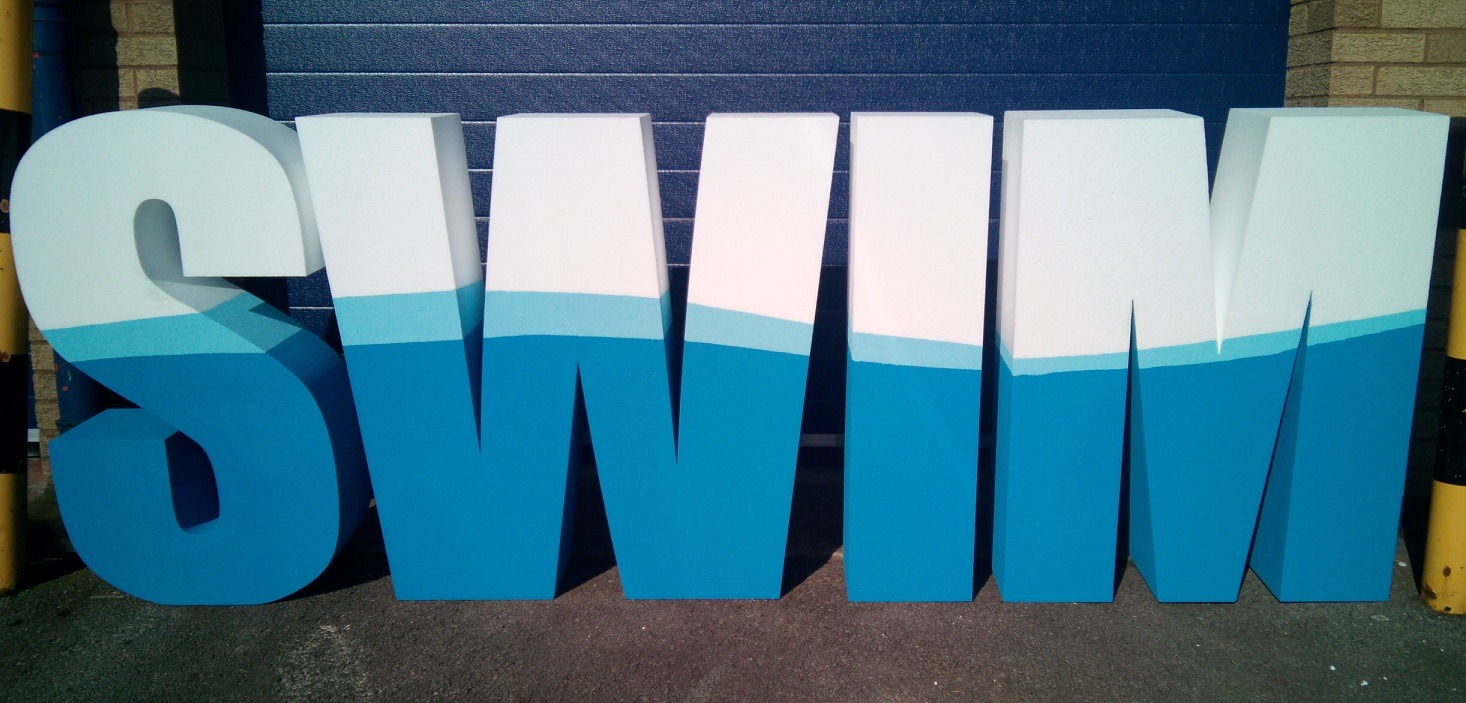 custom painted polystyrene letters