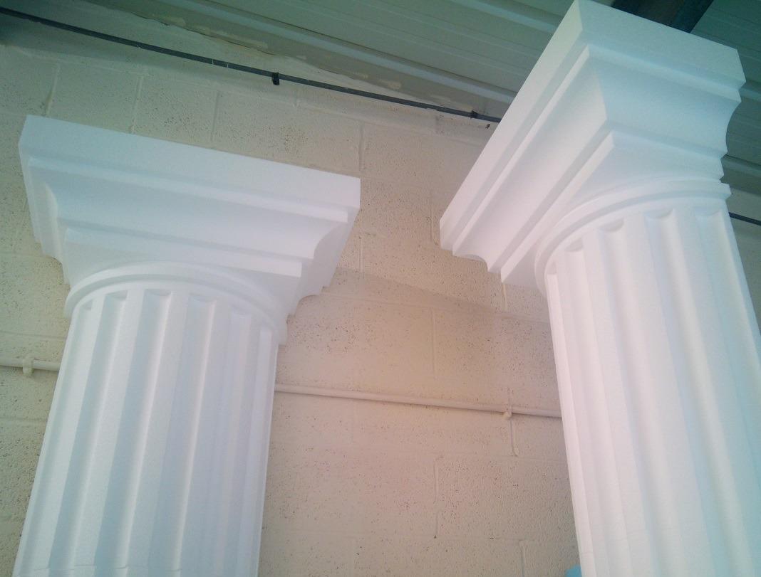half column capitals