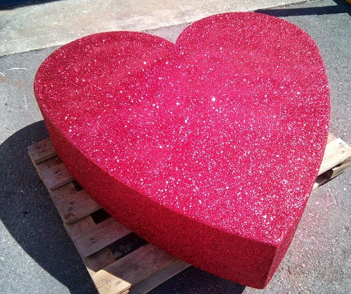 huge glitter heart