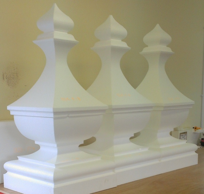 large finial shapes