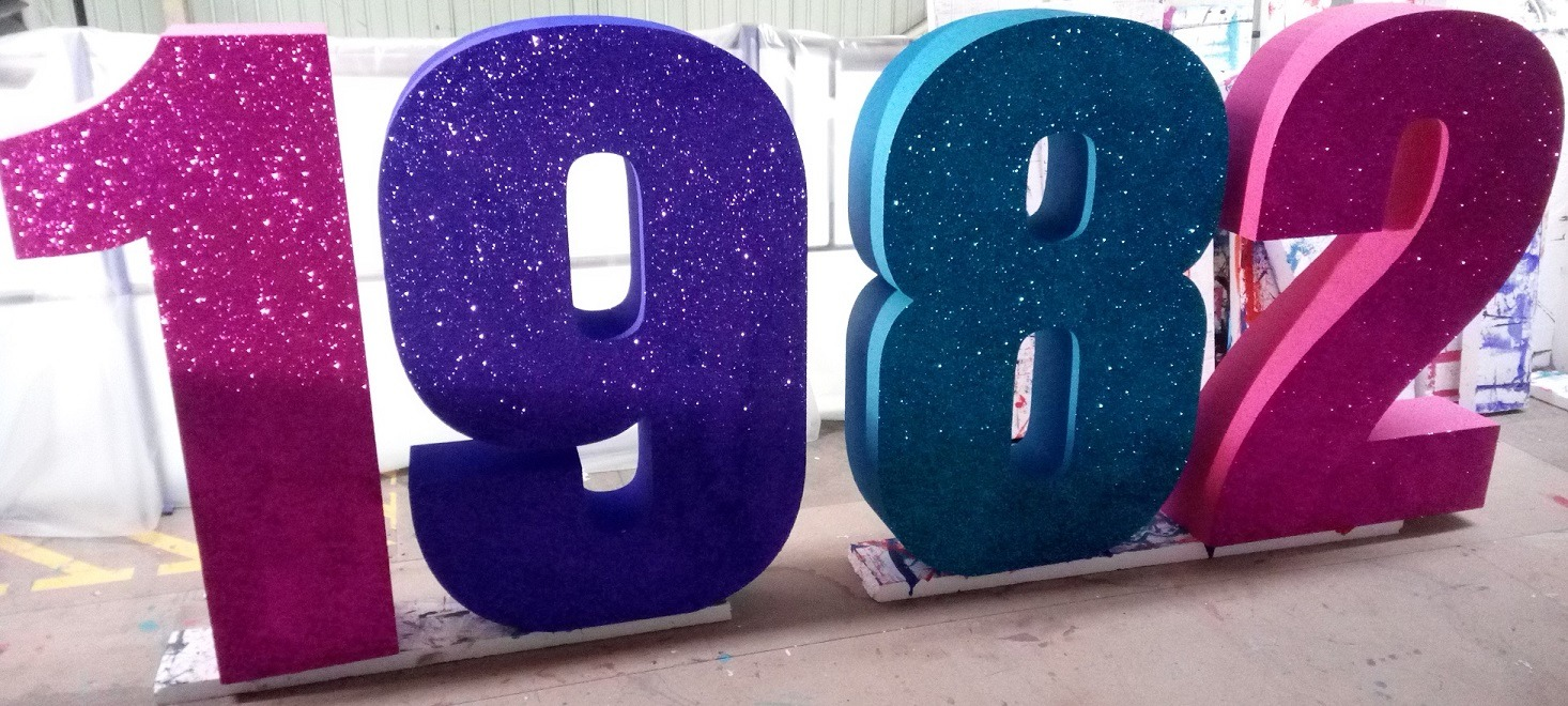 large glitter numbers
