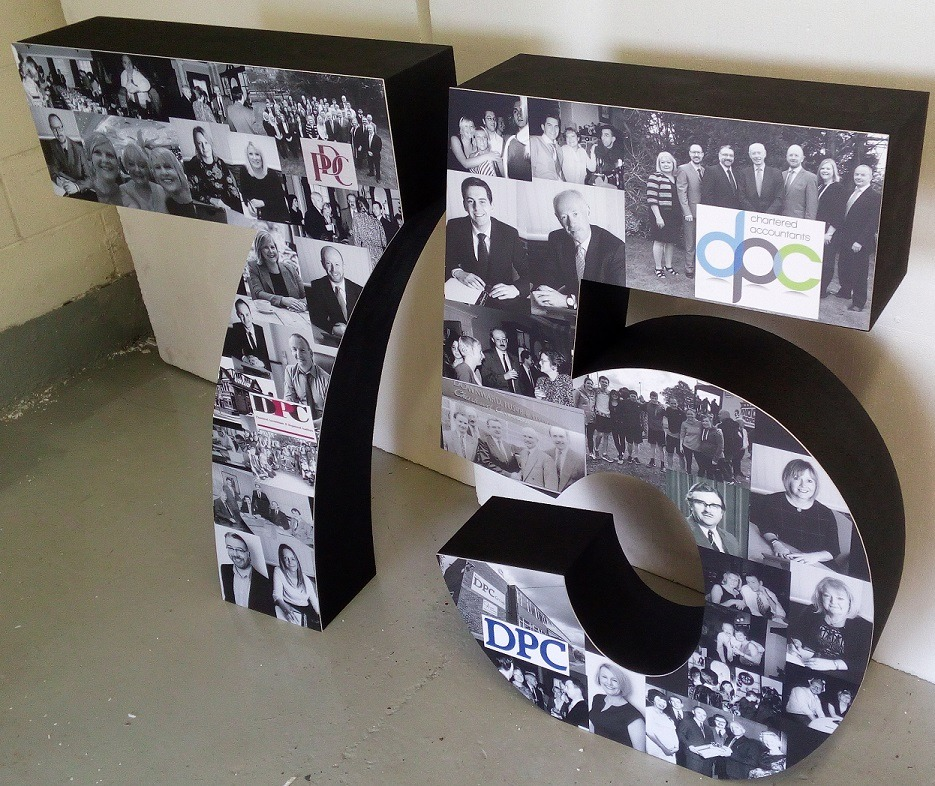 photo printed numbers