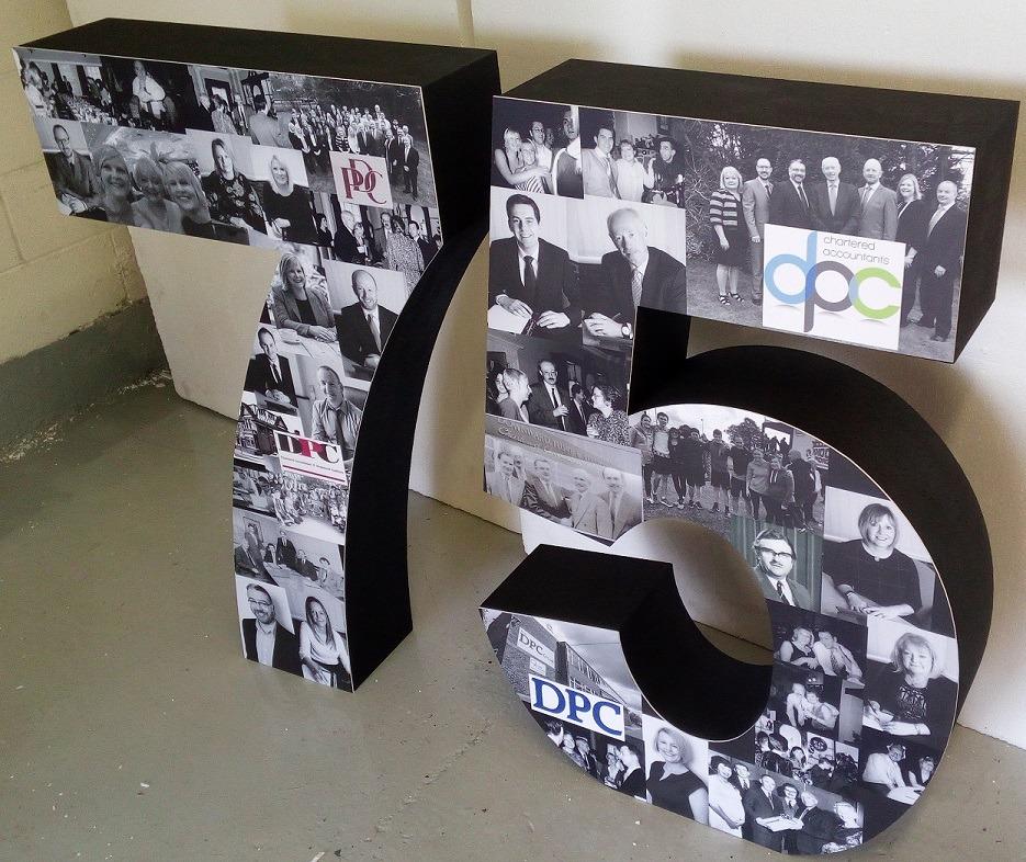 Photo printed numbers