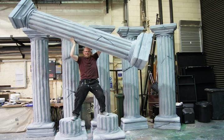 polystyrene column props