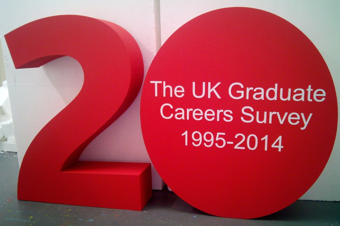 polystyrene display numbers with vinyl lettering