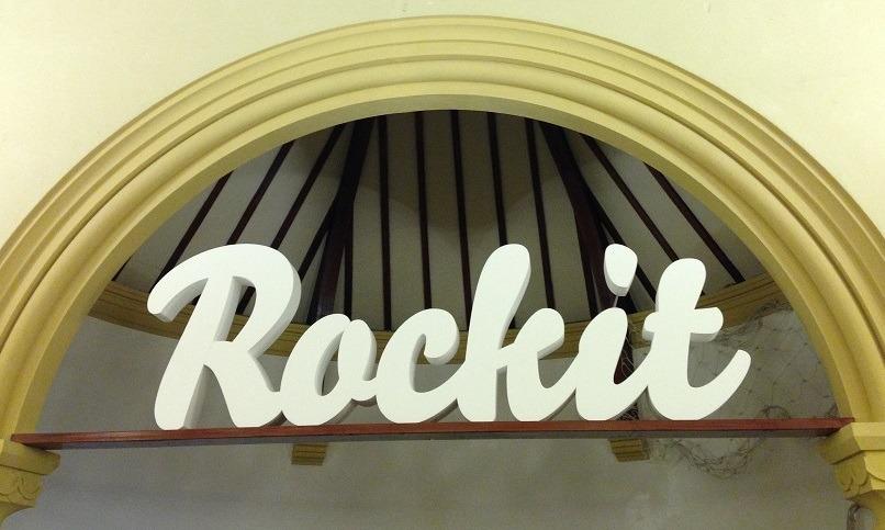 polystyrene letter logo