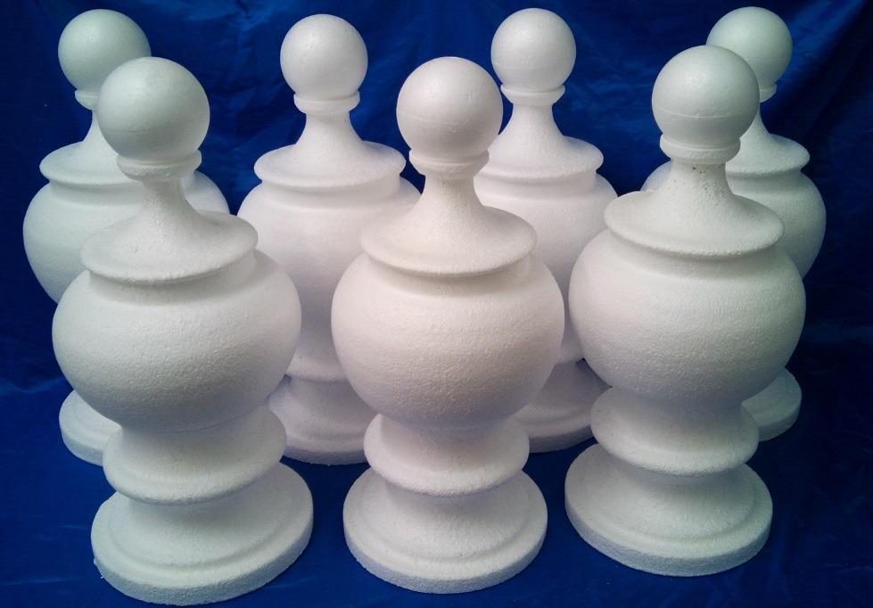 polystyrene vases