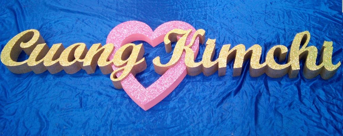 wedding glitter letters